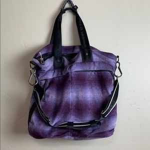 Lululemon Fast in Flight Purple Plaid Gym Yoga Bag